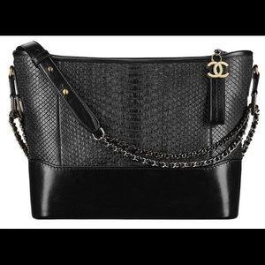 Chanel Gabrielle Medium Black Python tote bag